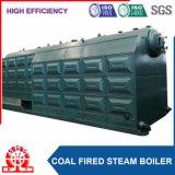 Le charbon a allumé la chaudière emballée de combustible solide