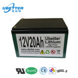 paquete de la batería 12V - Hierro-Fosfato del litio (LiFePO4) - 12.8ah