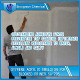 Émulsion acrylique de styrène exceptionnel d'adhérence pour des enduits d'amorce de mur
