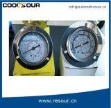 Indicateur de pression rempli d'huile de glycérine ou de silicones de Coolsour, garnitures de réfrigération