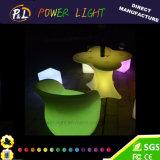 Tabela plástica moldando rotatória da flor da ameixa da barra da mobília do diodo emissor de luz