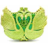 A embreagem de pedra de cristal colorida do partido do saco de noite da fábrica de China franze a bolsa para as mulheres Leb889