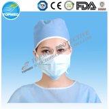 Maschera di protezione chirurgica a gettare del Nonwoven 3ply per medico/ospedale