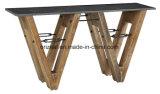 أثر قديم مستطيل صلبة [بين ووود] [كفّ تبل], يعيش غرفة خشبيّة حجارة طاولة