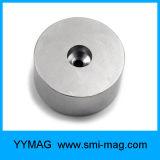 Imán del cilindro del neodimio de la tierra rara con el orificio del avellanador