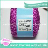 주문 조사 다채로운 머서법으로 처리된 면 뜨개질을 하는 크로셰 뜨개질 소모사 무게 털실