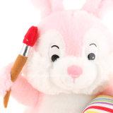 Feliz Easter Rabbit Plush Soft Toys com ovos e pastéis