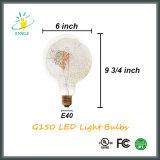 G150 E40 크롬 은 LED 필라멘트 훈장 빛