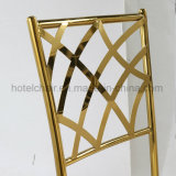 의자를 식사하는 호화스러운 황금 도금된 스테인리스