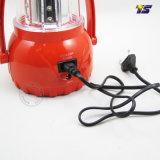 Lanterna ricaricabile di campeggio solare dell'indicatore luminoso LED con il caricatore del telefono mobile (T7089)