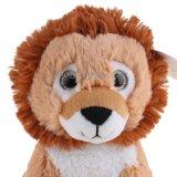 견면 벨벳 아이를 위한 귀여운 큰 눈 사자 장난감