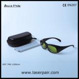 Óculos de proteção protetores de vidros de segurança do laser Transmittance/755nm de 40% para lasers do Alexandrite com frame 33