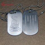 На заводе дешевые металлические Custom шарик цепь военных Dog Tag