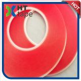 El doble rojo del animal doméstico del trazador de líneas de la resistencia da alta temperatura echó a un lado cinta
