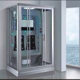 1390mm mini rectangle gris sauna à vapeur avec douche pour 2 personnes (à l'-0219-1)