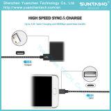 cable trenzado de nylon del cargador de la cuerda del USB del paño de la nueva tela del 1m para Samsung