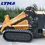 Multifunctional mini chargeuse à direction à glissement de bouteur chenillé 240kg
