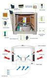 De nieuwe Koeler van de Lucht van het Water van de Omschakelaar van het Dak van het Venster van de Muur Industriële Verdampings met 4 KoelStootkussens
