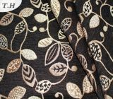 Tessuto di Chenille del jacquard di disegno del foglio nuovo (FTH31949)