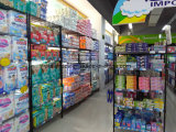 6 Tiers Retail Pop Display Cardboard Floor Standing Diaper Display Rack