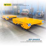 Chaîne de production en acier chariot électrique à transport de chariot de bâti plat d'utilisation