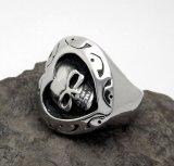 De Gotische Punker van het Staal van het Titanium van de Ring van de Schedel van de Vorm van het hart