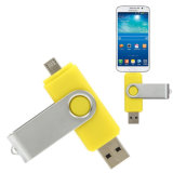 Prix ​​le plus bas d'usine 8GB OTG Swivel USB Flash Drive
