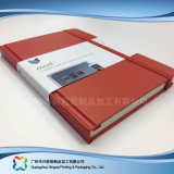 Caderno do planejador da tampa do couro do plutônio dos artigos de papelaria A5 do escritório (xc-stn-003)