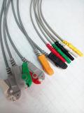 Cable médico del tronco ECG del estruendo 3/5 del monitor 6pin IEC/Aha