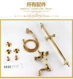 2016 Nuevo diseño de una manija para ZF-705 Jade latón Conjunto de ducha