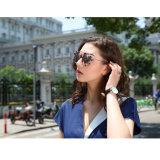 Nova moda elegante Tr90 Plástico e Aço Inoxidável mulheres óculos com lentes polarizada