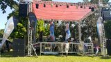 Riga attiva sistema di concerto esterno dell'altoparlante della fase da 12 pollici di schiera