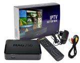 Коробка коробки Mag 250 IPTV установленная верхняя переходника USB WiFi Linux коробки Qhdtv Mag250 IPTV учета 1 года IPTV