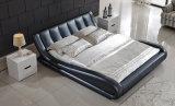 Neuer eleganter Entwurfs-modernes echtes Leder-Bett (HC203B) für Schlafzimmer