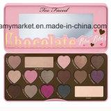 Ook Onder ogen gezien Vorm 16 van het Hart van de Chocolade de Paletten van de Oogschaduw van de Kleur