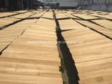 Suelo inacabado de madera sólida de la teca de Birmania