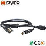 Push-pull circulaire Fischer à 4 broches de connecteur avec câble USB