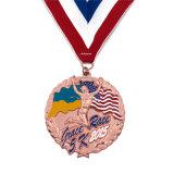 5K de cuivre émaillé personnalisé Marathon Boîte de présentation de la Médaille de la Police de la broche