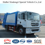 euro di 12cbm Dongfeng camion residuo di sintonia del costipatore dell'accumulazione di immondizia dei 4 barilotti
