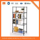 Estante ajustable de la estantería del metal del alambre de acero del estante de la capa