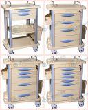 ABS Anästhesie-Laufkatze-Karre für entbinden mit zeichnet mit Karten-Kennsatz Gt-Taq1301
