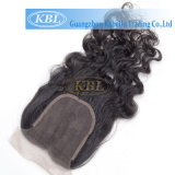100% Natural Hair Hair Womens Toupee Closure 4 * 4