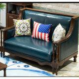 居間の家具As843のためのアメリカの現代デザイン本革のソファー