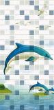 Mattonelle della parete di colore della miscela con il reticolo bello del delfino