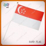 Bandierine su ordinazione poco costose della mano di evento di elezione con Palo di plastica (HYHF-AF032)