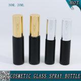 bottiglia di vetro nera del tubo della fiala dello spruzzo di 20ml 30ml Matt con lo spruzzatore di alluminio per profumo