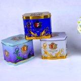 Doos van het Tin van de Thee van de Uitvoer van de Kleur van de douane de Vierkante voor Gift