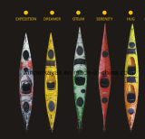 Zit de Dubbele Persoon van de Bestseller in het Hoogste OceaanPedaal van de Kajak