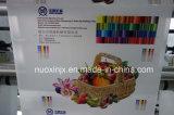 La pila de 8 colores de la máquina de impresión flexográfica tipo correa
