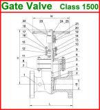 o aço de molde 900lb flangeou a válvula de porta da extremidade (GAZ40W)